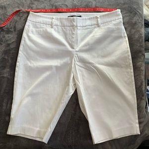 New York and Company White Bermuda shorts